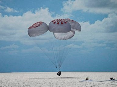 SpaceX's 1st all-civilian crew splashes down after successful mission