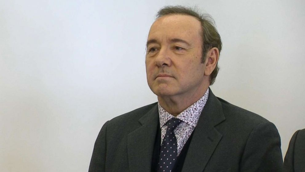 Kevin Spacey appears in court in Nantucket, Mass., Jan. 7, 2019.