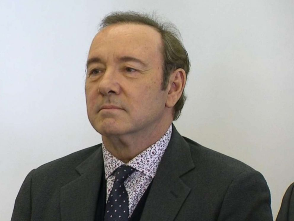 PHOTO: Kevin Spacey appears in court in Nantucket, Mass., Jan. 7, 2019.