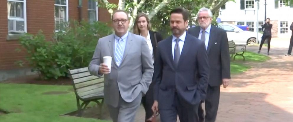 PHOTO: Kevin Spacey arrives at Nantucket District Court in Nantucket, Mass., June 3, 2019.