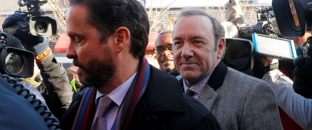 PHOTO: Kevin Spacey arrives to face a sexual assault charge at Nantucket District Court in Nantucket, Mass., Jan. 7, 2019.