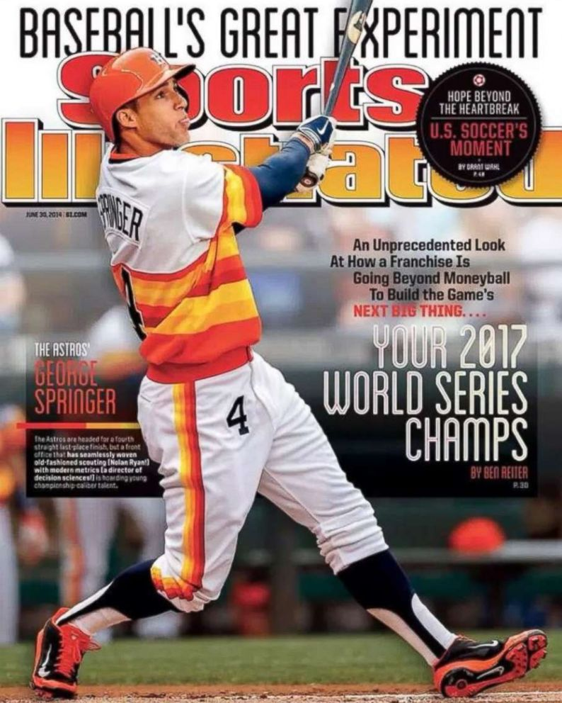 PHOTO: George Springer of the Houston Astros is pictured on the cover of the June 30, 2014 issue of Sports Illustrated.
