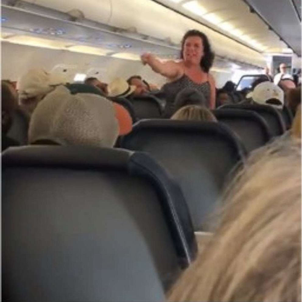 Airline Milf outburst on spirit flight