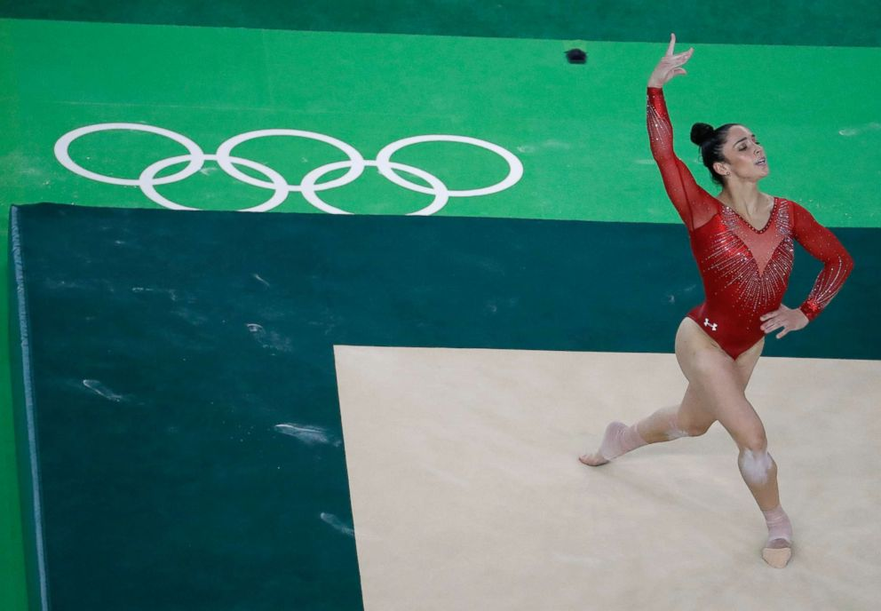 PHOTO: Aly Raisman performs on the floor during the artistic gymnastics womens individual all-around final at the 2016 Summer Olympics in Rio de Janeiro, Brazil, Aug. 11, 2016.