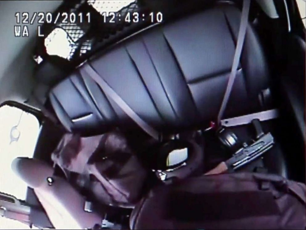 PHOTO: This Dec. 20, 2011, image from a police video obtained by the St. Louis Post-Dispatch shows an AK-47 rifle in the back seat of the police SUV after then-St. Louis police officer Jason Stockley fatally shot Anthony Lamar Smith.