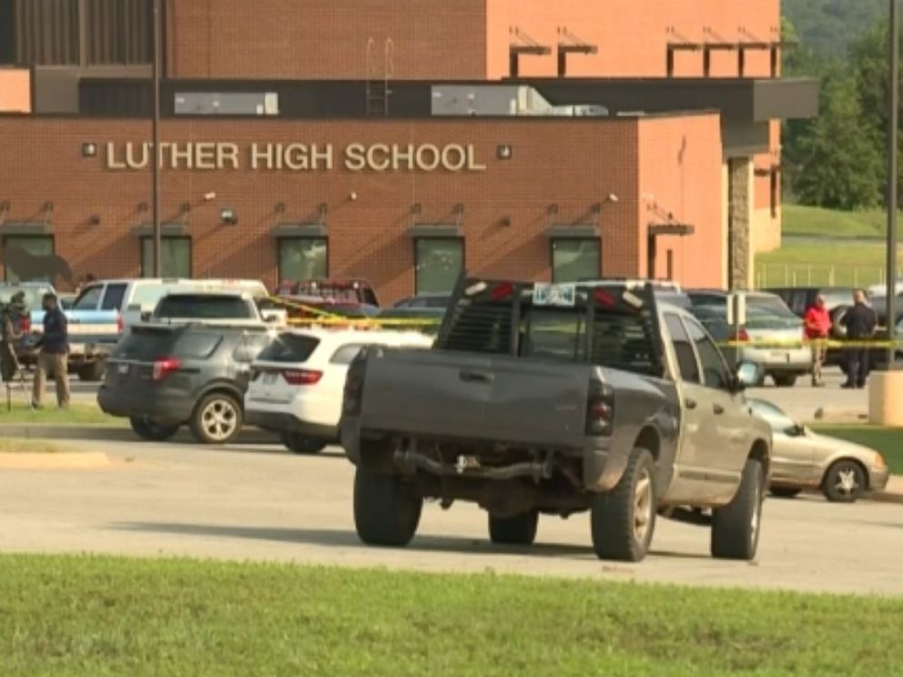 PHOTO: Police are investigating after a student was stabbed multiple times on the first day of school at Luther High School in Luther, Okla., Aug. 16, 2018.