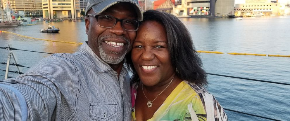 PHOTO: Keith Smith of poses with his wife, Jacquelyn Smith, who was stabbed to death by a panhandler in Baltimore on Dec. 1, 2018.