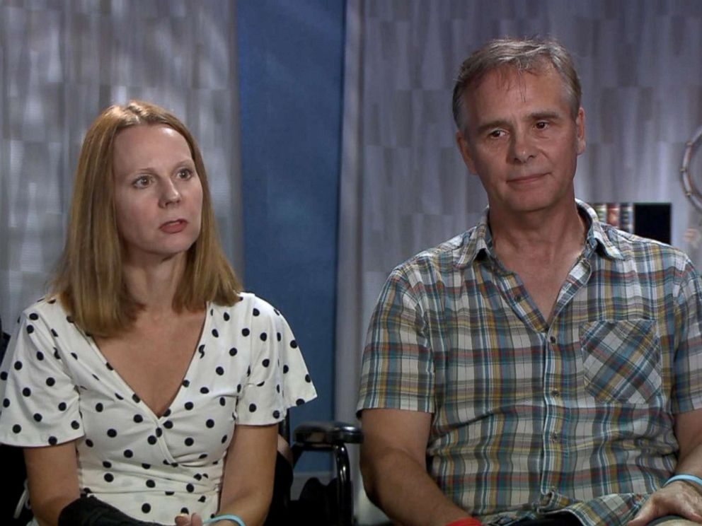 PHOTO: Stacey Schaffer Bender and Paul Bender, the mother and stepfather, respectively, of Stephanie Schaffer, the 22-year-old who lost both of her legs in a boat accident in the Bahamas, revealed what it was like the day of the accident.