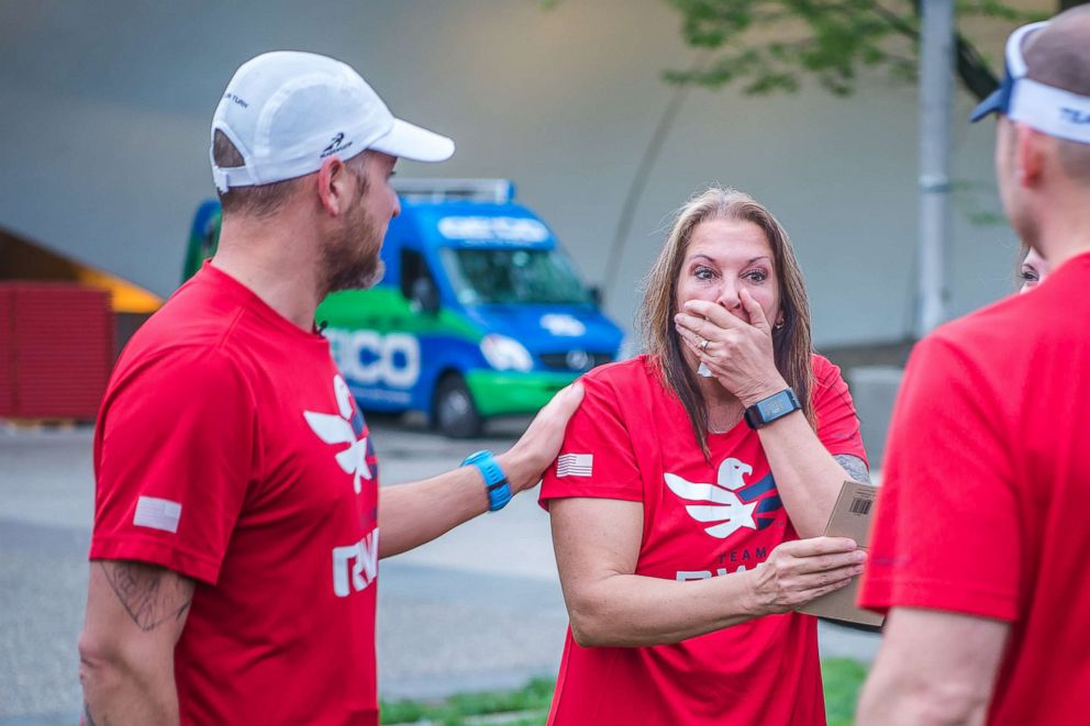 PHOTO: Stacey is surprised and shocked to see her biological son for the first time.