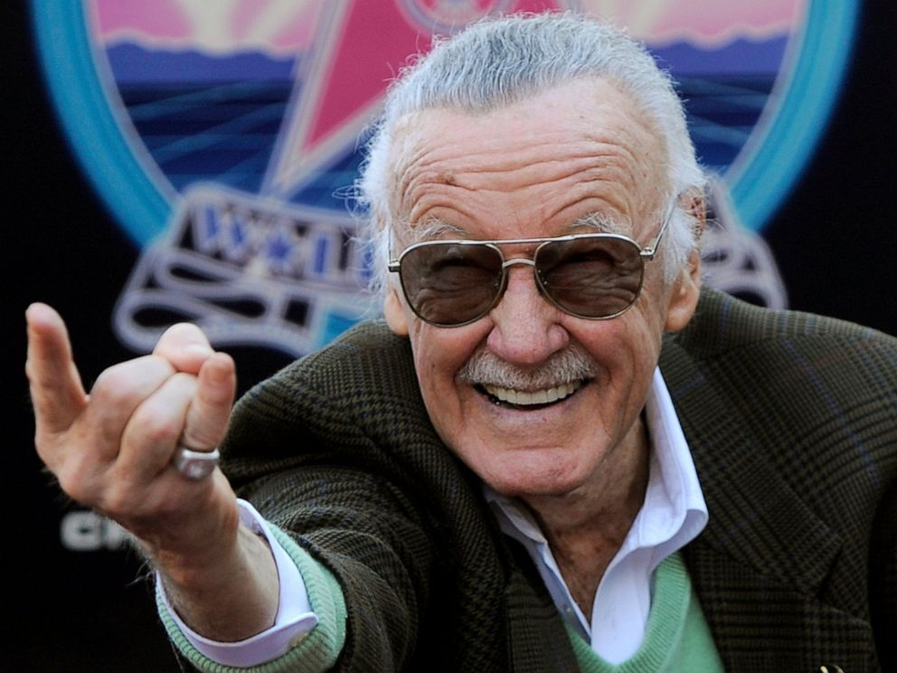 PHOTO: In this Jan. 4, 2011 file photo, Comic book creator Stan Lee strikes the Spiderman pose as he poses after receiving a star on the Hollywood Walk of Fame in Los Angeles.