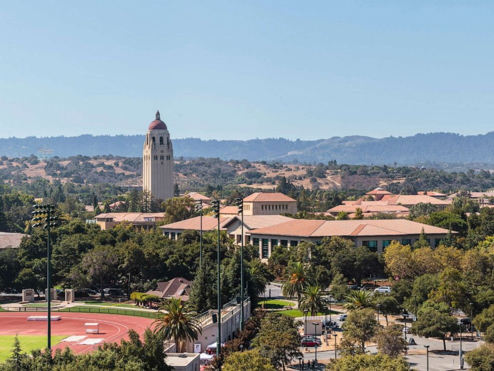 PHOTO: A general view of the Stanford University campus including Hoover Tower on Sept. 30, 2017 in Palo Alto, Calif.