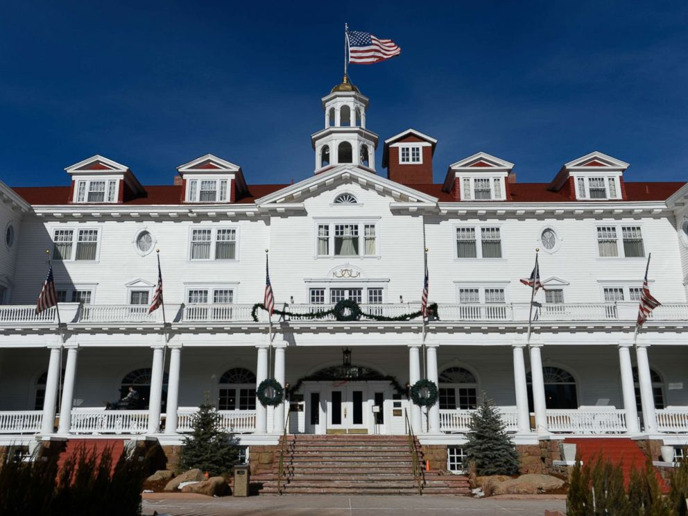 PHOTO: The front of the Stanley Hotel is pictured on Jan .12, 2016 in Estes Park, Colo.