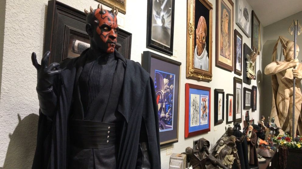PHOTO: Sculptures and paintings, some made by Star Wars fans, take up a large section at Rancho Obi Wan.