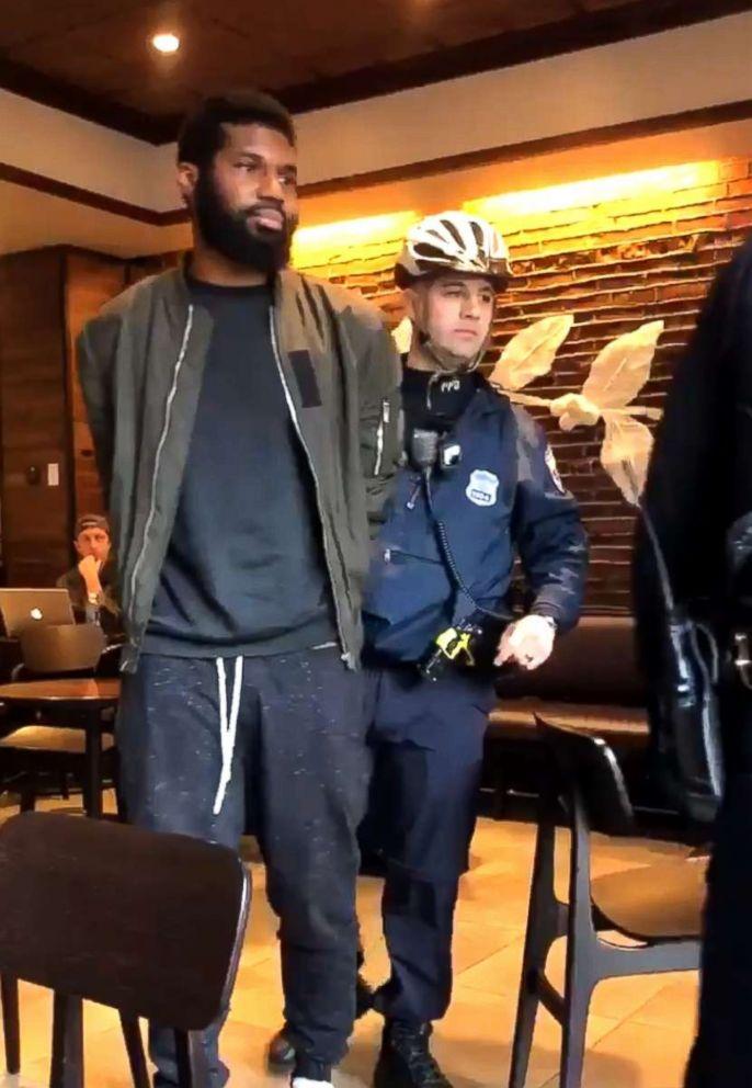 Two men were arrested at a Starbucks in Philadelphia, April 12, 2018.