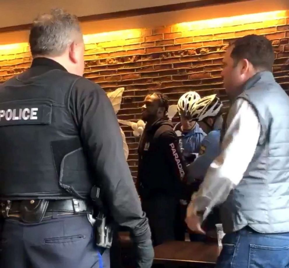 PHOTO: Two men were arrested at a Starbucks in Philadelphia, April 12, 2018.