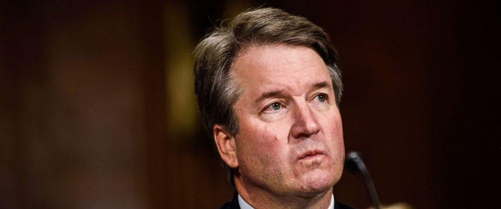 PHOTO: Judge Brett Kavanaugh testifies before the Senate Judiciary Committee on Sept. 27, 2018.