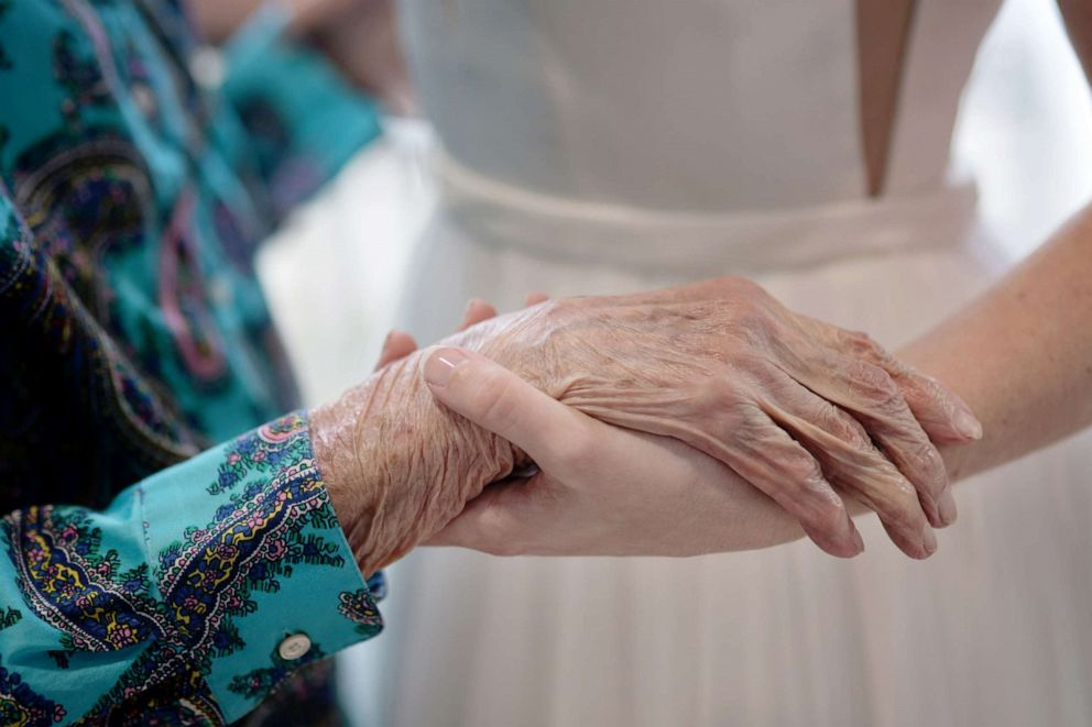 PHOTO: Tara Foley flew from Austin, Texas, to Florida to take professional wedding photographs with her 102-year-old Nana, Stasia Foley, because she could not make the trip due to her age and health.