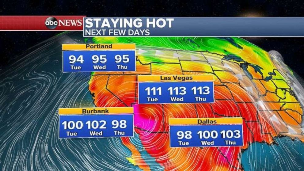 PHOTO: A heat wave is hitting the West Coast.
