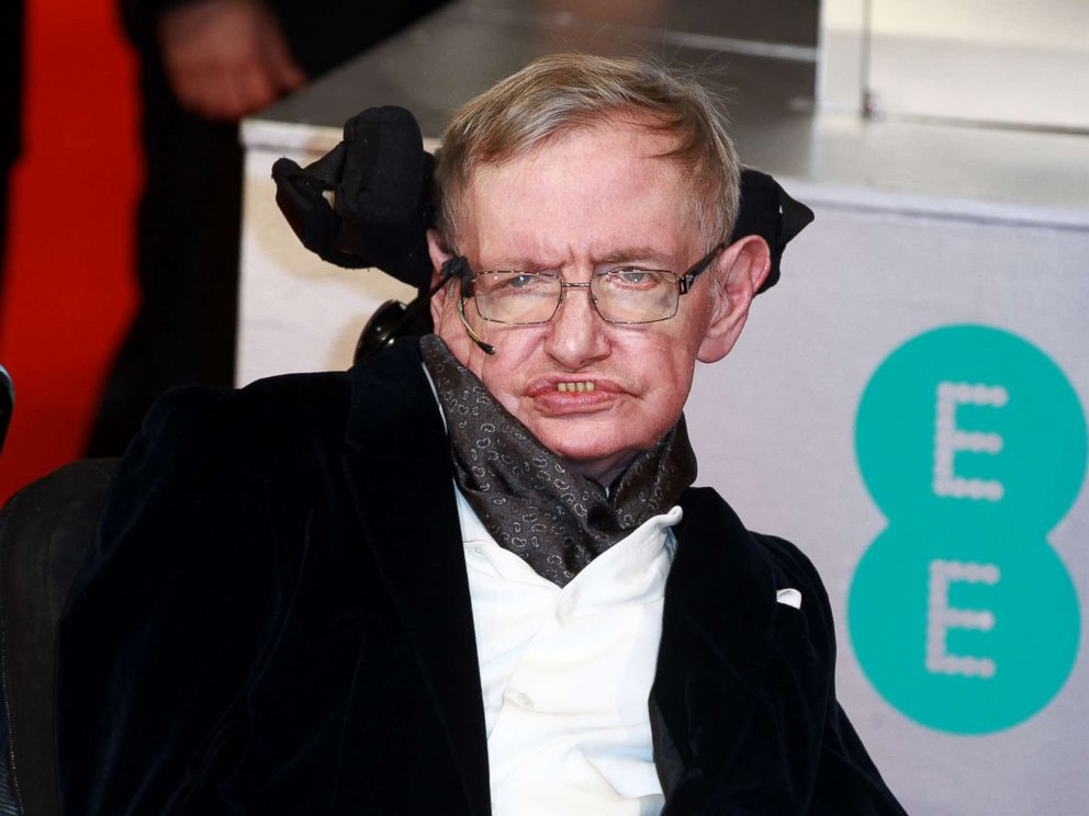 PHOTO: Stephen Hawking attends the EE British Academy Film Awards at The Royal Opera House, Feb. 8, 2015 in London.