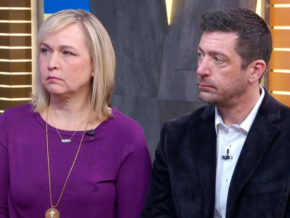 PHOTO: Jim and Evelyn Piazza, the parents of 19-year old Penn State University sophomore Tim Piazza who died following an alleged hazing incident, speak out in an interview with ABC News Michael Strahan.