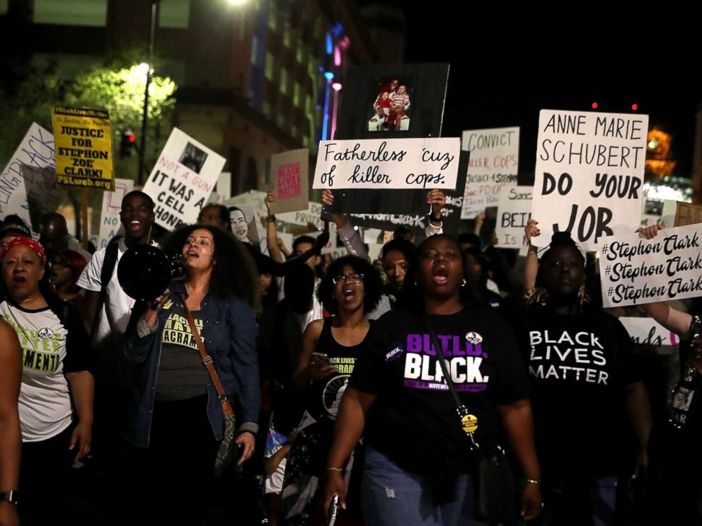 Stephon Clark Protest Panic After Woman Hit by Cop Car