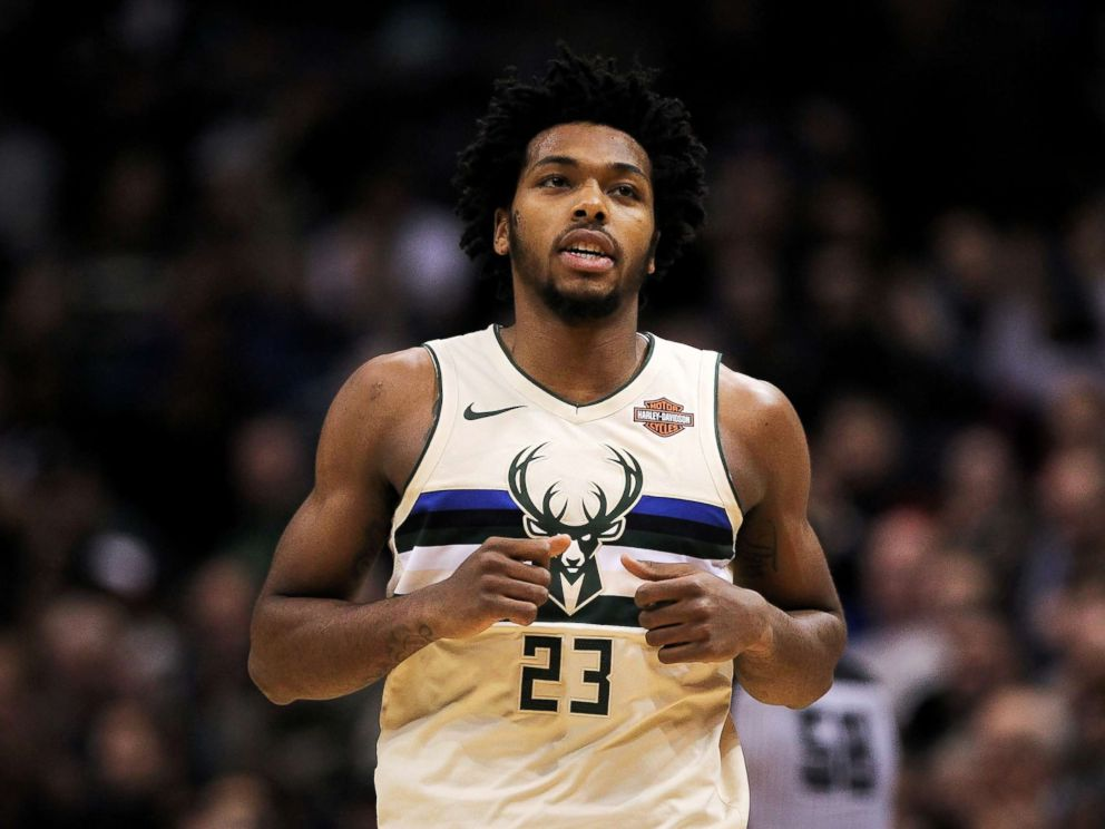 PHOTO: Sterling Brown #23 of the Milwaukee Bucks jogs across the court in the fourth quarter against the Philadelphia 76ers at the Bradley Center on Jan. 29, 2018 in Milwaukee.