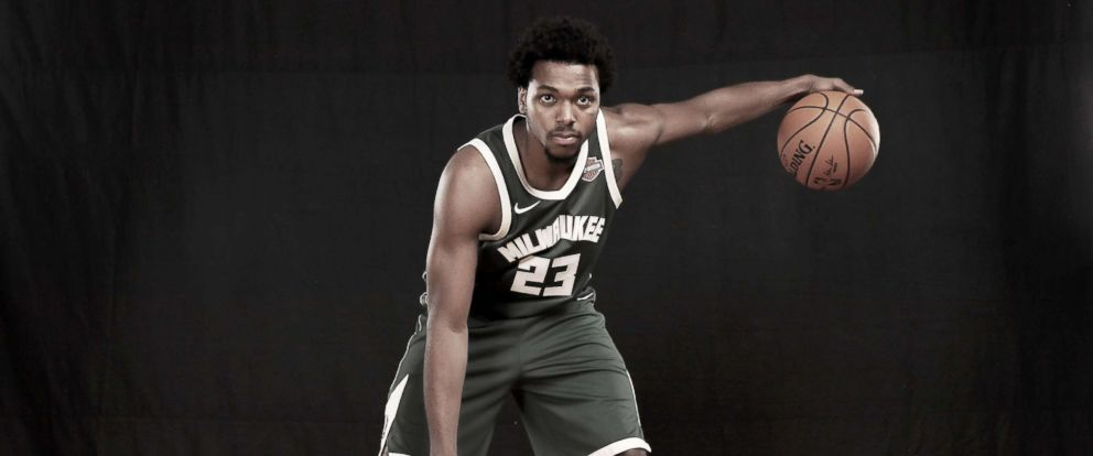 PHOTO: Sterling Brown of the Milwaukee Bucks poses for a portrait during the 2017 NBA Rookie Photo Shoot at MSG Training Center on Aug. 11, 2017 in Greenburgh, New York.