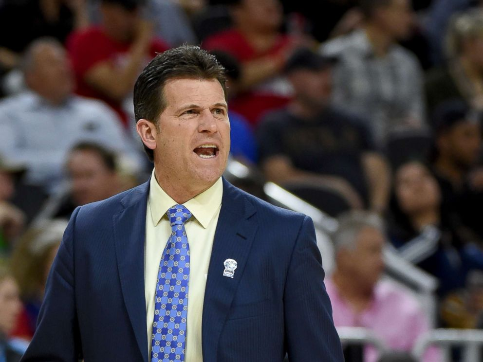 PHOTO: Head coach Steve Alford of the UCLA Bruins reacts during a semifinal game of the Pac-12 Basketball Tournament against the Arizona Wildcats at T-Mobile Arena, March 10, 2017, in Las Vegas.