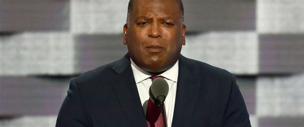PHOTO: Mayor Steve Benjamin (Democrat of Columbia, S.C.) makes remarks during the second session of the 2016 Democratic National Convention at the Wells Fargo Center in Philadelphia, July 26, 2016.
