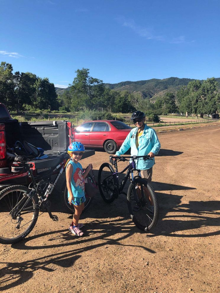 PHOTO: Betty Huart is now cancer free. Doctors also cured her Hepatitis C, contracted from the infected donated liver, within 12 weeks. Too tired before the transplant, Huart is now able to ride her beloved bike again.