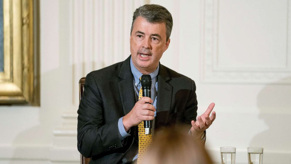 Alabama Attorney General Steve Marshall speaks at a roundtable event to salute U.S. Immigration and Customs Enforcement (ICE) officers and U.S. Customs and Border Protection (CBP) agents at the White House, Aug. 20, 2018.