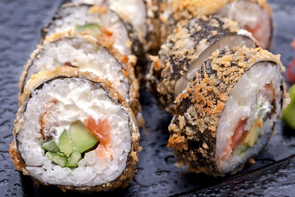 PHOTO: Tempura sushi roll.