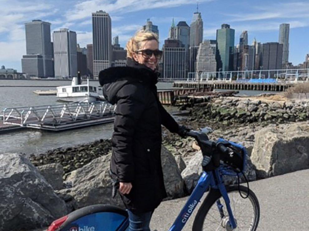 PHOTO: Amanda Needham, of Brooklyn, poses on a bicycle in New York.