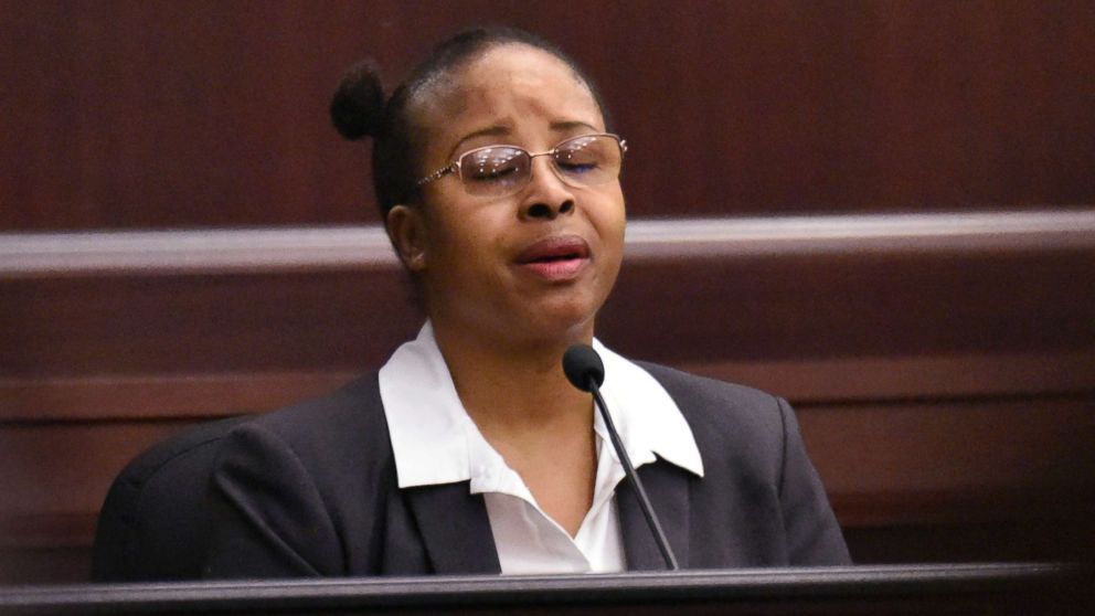 Gloria Williams testifies on the second day of her sentencing hearing Friday, May 4, 2018, at the Duval County Courthouse in Jacksonville, Fla.