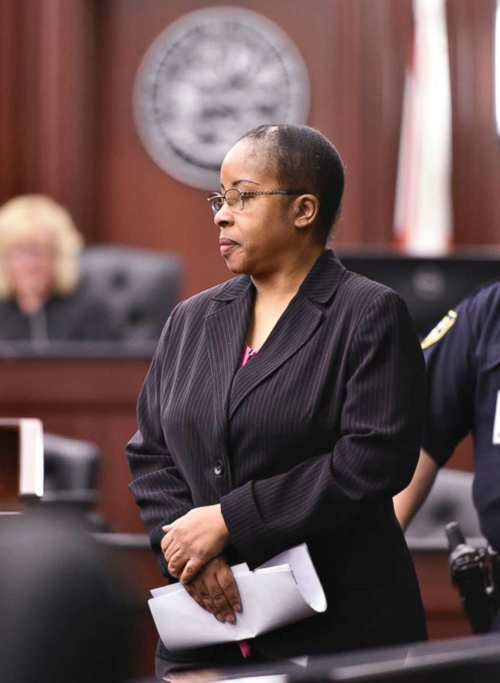 PHOTO: Gloria Williams enters the courtroom for a sentencing hearing, May 3, 2018 at the Duval County Courthouse in Jacksonville, Fla.