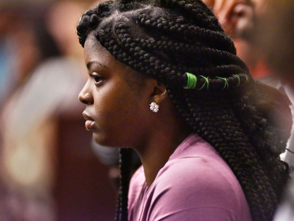 PHOTO: Kamiyah Mobley, who was raised with the name Alexis Kelly Manigo, sits in the courtroom during the second day of the sentencing hearing of Gloria Williams, May 4, 2018, at the Duval County Courthouse in Jacksonville, Fla.