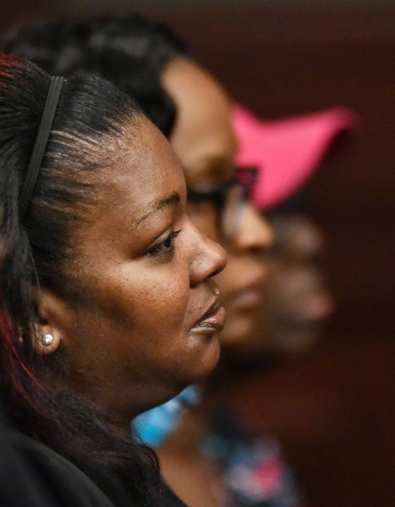 PHOTO: Shanara Mobley listens to the testimony of Gloria Williams on the second day of Williams sentencing hearing, May 4, 2018, at the Duval County Courthouse in Jacksonville, Fla.