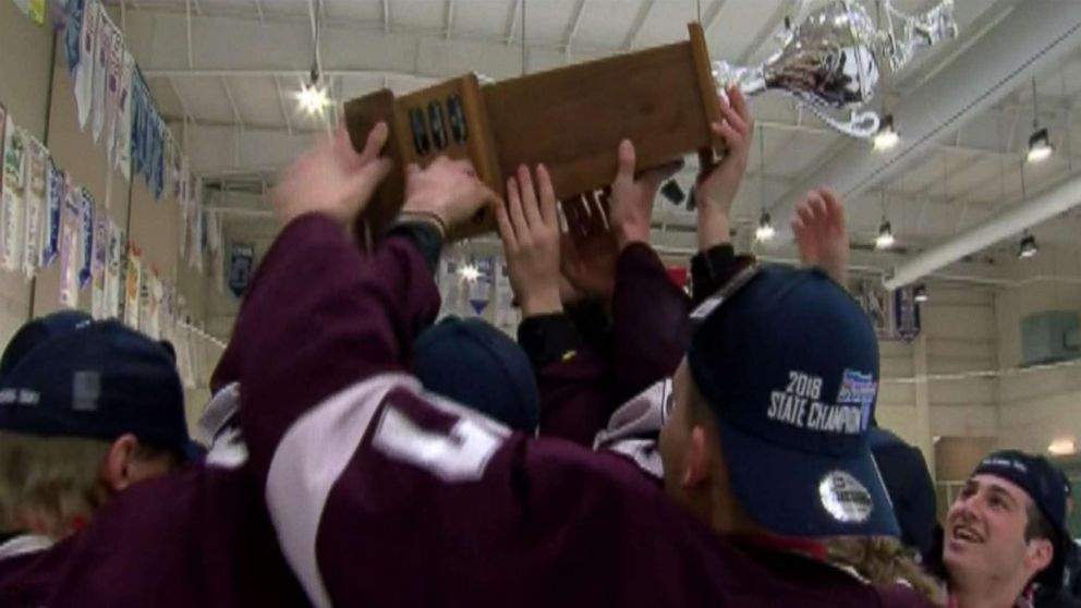Marjory Stoneman Douglas won the Lightning High School Hockey League Tier 1 state title with a 7-4 victory Sunday over Jesuit.