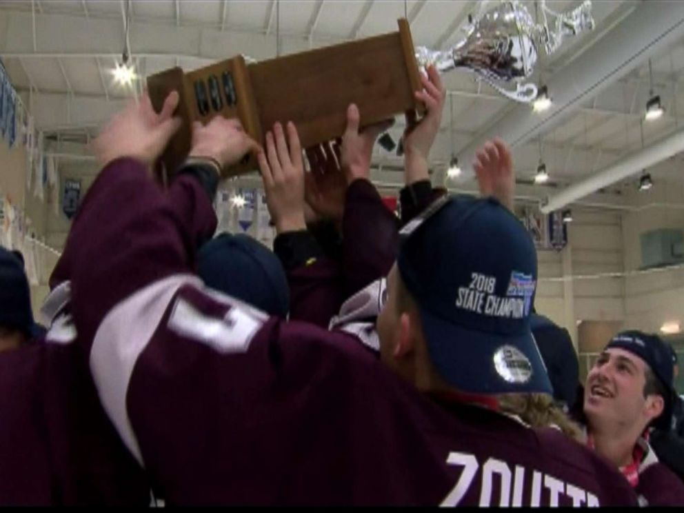 PHOTO: Marjory Stoneman Douglas won the Lightning High School Hockey League Tier 1 state title with a 7-4 victory Sunday over Jesuit.