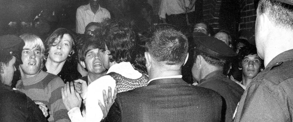 PHOTO: Stonewall Inn nightclub raid, June 28, 1969, in New York City.
