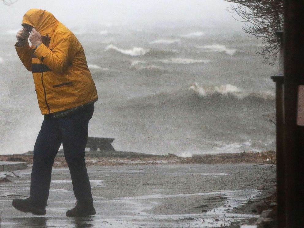Sandbags and warnings as northeast US braces for storm-driven flood