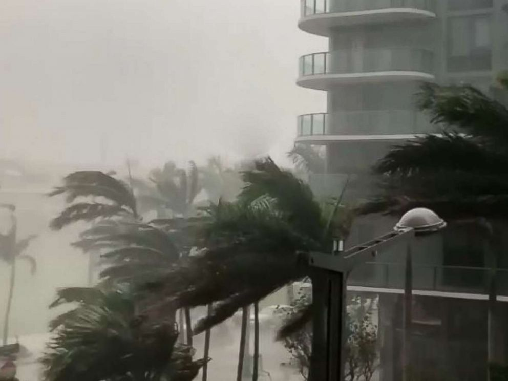 PHOTO: @michaelscig72 shared video on Instagram showing tropical storm Alberto, May 27, 2018 in Miami.