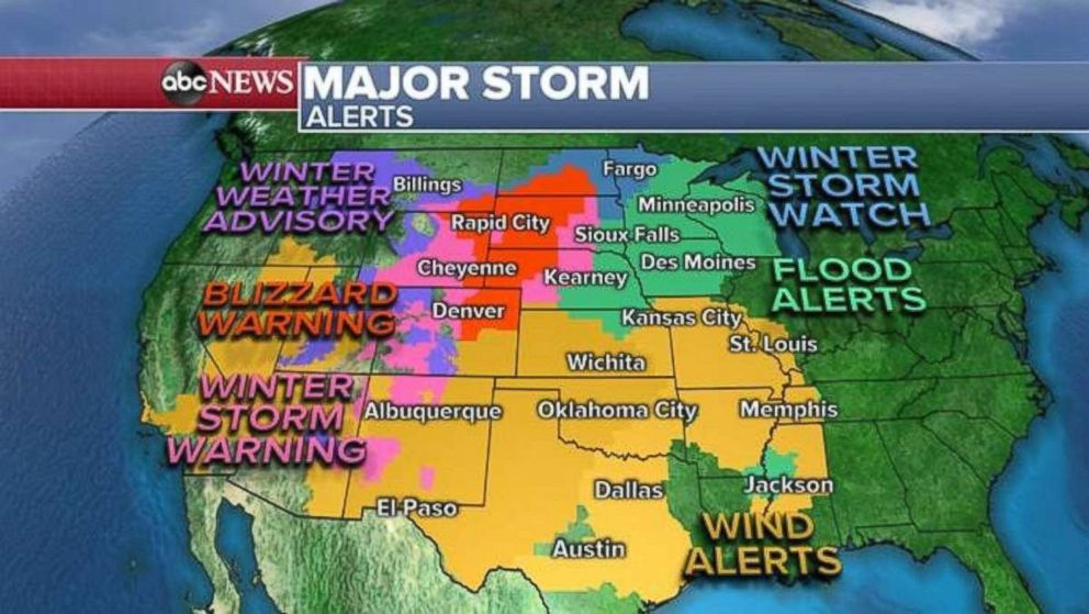 PHOTO: Alerts are in place across much of the western half of the United States.