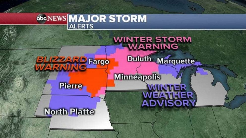 PHOTO: There are severe weather alerts in six states on Friday.