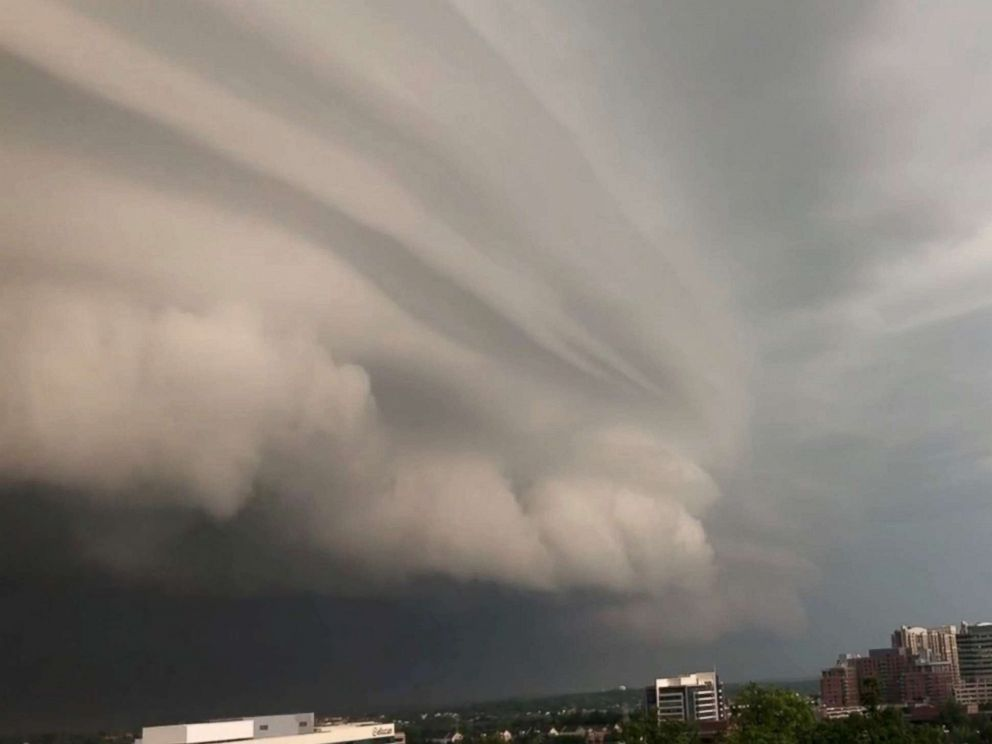 PHOTO: Storm clouds gather over Reston, Va., May 14, 2018, in this still image obtained from social media video.