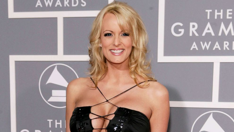 Stormy Daniels arrives for the 49th Annual Grammy Awards in Los Angeles, on Feb. 11, 2007.