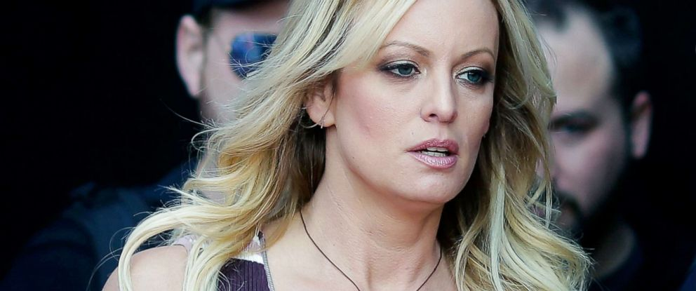 PHOTO: In this Oct. 11, 2018, file photo, adult film actress Stormy Daniels arrives for an event in Berlin.