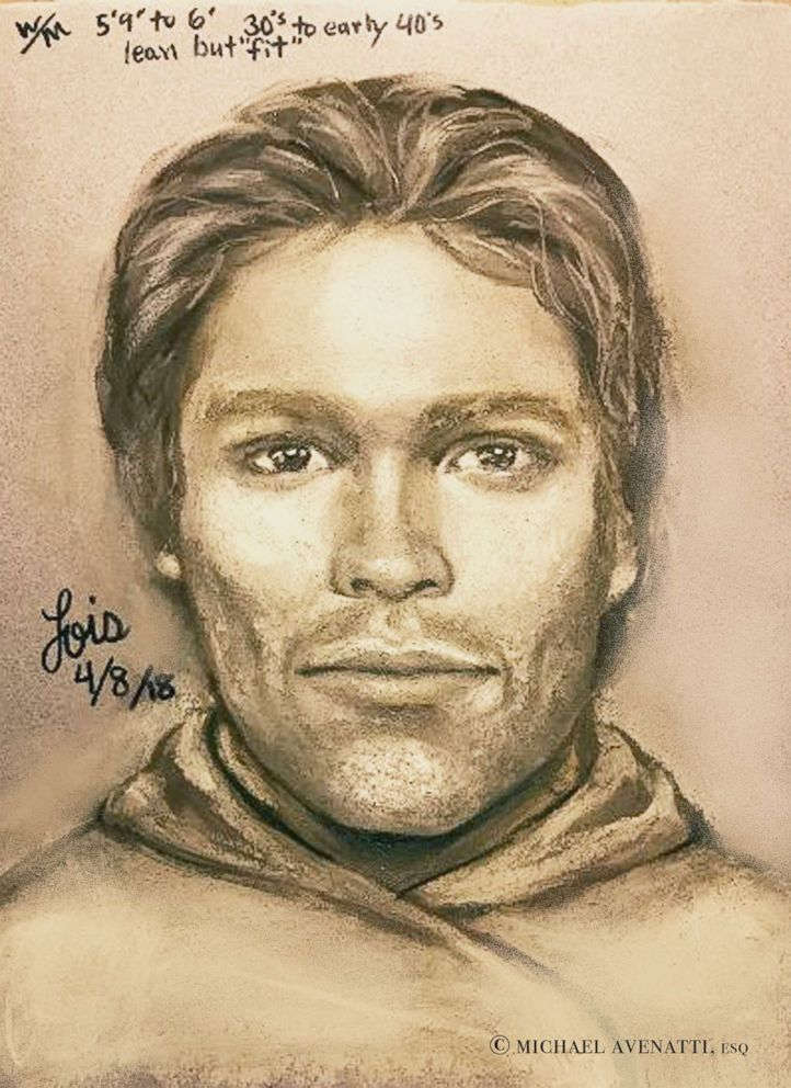PHOTO: This artists drawing released by attorney Michael Avenatti, reports to show the man that the adult film actress Stormy Daniels says threatened her in a Las Vegas parking lot in 2011 to remain quiet about her affair with President Donald Trump.