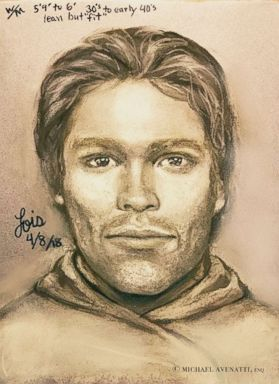PHOTO: This artists drawing released by attorney Michael Avenatti, purports to show the man that the adult film actress Stormy Daniels says threatened her in a Las Vegas parking lot in 2011 to remain quiet about her affair with President Donald Trump.
