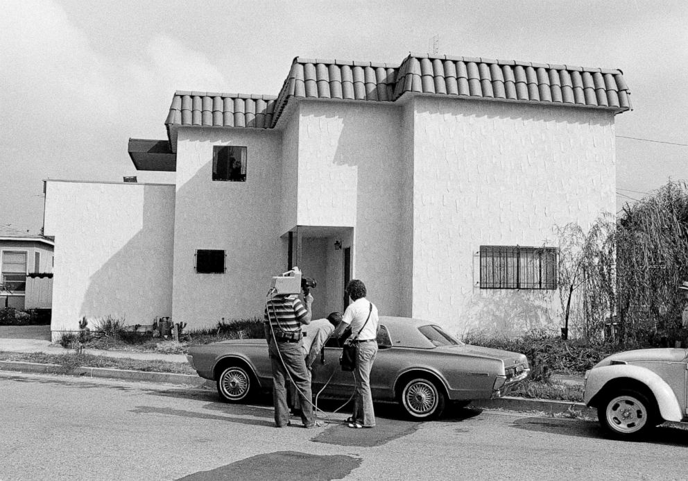 PHOTO: Newsmen examine the car of Dorothy Stratten, Playmate of the year 1980, after the nude bodies of her and her husband, Paul Snider, were found dead in this apartment in Los Angeles, Aug. 15, 1980.